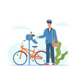 postman deliver mail mailman in blue uniform vector image