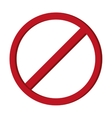 restriction sign icon vector image
