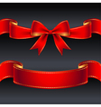 ribbon red border vector image