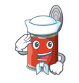 sailor character canned food isolated on cartoon vector image