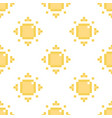 seamless pattern background with pixel sun vector image vector image