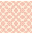 seamless pattern with abstract pink flowers on vector image vector image