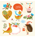 set holiday graphic elements vector image vector image