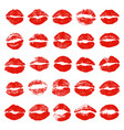 set lip prints vector image