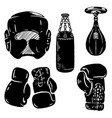 set of boxing sport design elements boxing gloves vector image vector image