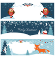 Set of Christmas graphic banners vector image vector image