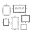set of gray rectangular frames isolated o vector image vector image