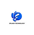 splash technology abstract logo vector image vector image