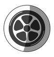 sticker car wheel monochrome with half shaded vector image vector image