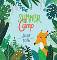 Summer forest camp banner or placard vector image vector image