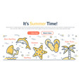 summer web site header vector image