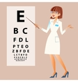 The doctor ophthalmologist examines your eyes vector image