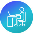 using laptop icon vector image vector image