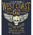 west coast motorcycle biker company american club vector image