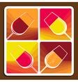 wine varieties vector image vector image