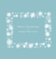 wreath snowflakes new year and christmas frame vector image