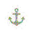 abstract anchor splash vector image