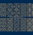 baroque seamless patterns set vector image