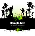 Dancing young people vector image