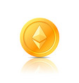ethereum coin symbol icon sign emblem vector image