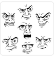 Negative emotions - set vector image