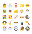 a pack of food and drinks icons vector image