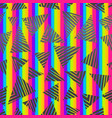 abstract rainbow triangle pattern vector image vector image