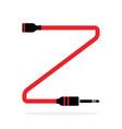 alphabet z letter logo formed jack cable vector image vector image