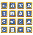 april fools day icons set blue vector image vector image