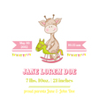 Baby Shower or Arrival Card - with Baby Giraffe vector image vector image