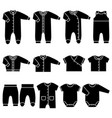 black icons baclothes vector image vector image