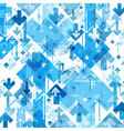 Blue Arrows Chaotic Pattern Abstract background vector image vector image