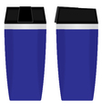 Blue Disposable Cup set isolated on white vector image vector image