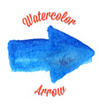 Blue watercolor arrow vector image vector image