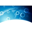 Bright blue technology background vector image vector image