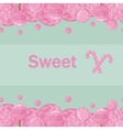 Candy lollipops seamless pattern background vector image