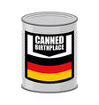 Canned birthplace Patriotic Preserved birthplace vector image vector image
