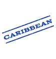 Caribbean Watermark Stamp vector image vector image