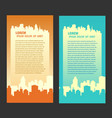 city background flyer vector image