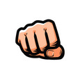 clenched fist punching from front vector image vector image