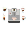 coffee maker drinks with coffee vector image