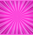 colorful comic bright pink background vector image vector image
