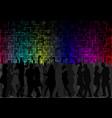 dancing crowd vector image vector image