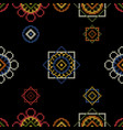 dark bright background embroidery for tablecloth vector image vector image