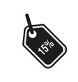 discount fifteen 15 percent circular icon vector image