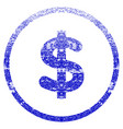 dollar grunge textured icon vector image vector image