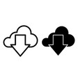 download from cloud line and glyph icon cloud and vector image vector image