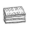 eclair icon doodle hand drawn or outline icon vector image