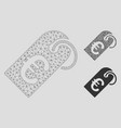 euro tag mesh network model and triangle vector image vector image