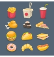 Fast Food Decorative Icons vector image vector image